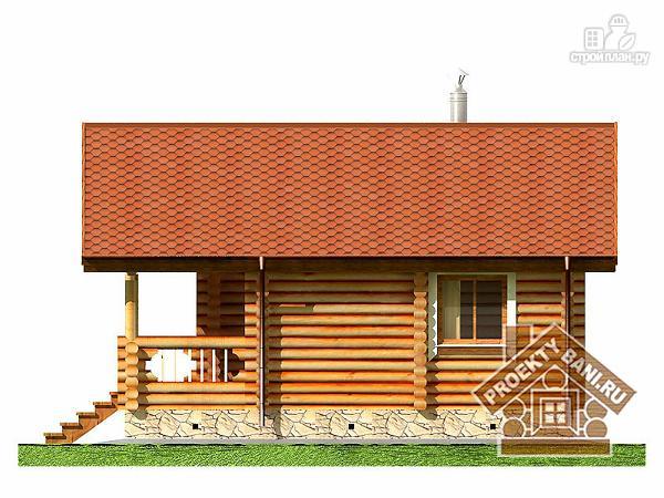 Фото 10: проект одноэтажная баня с просторной террасой и парилкой