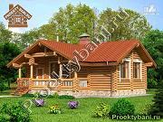 Фото: одноэтажный дом баня с бильярдной или двумя спальнями