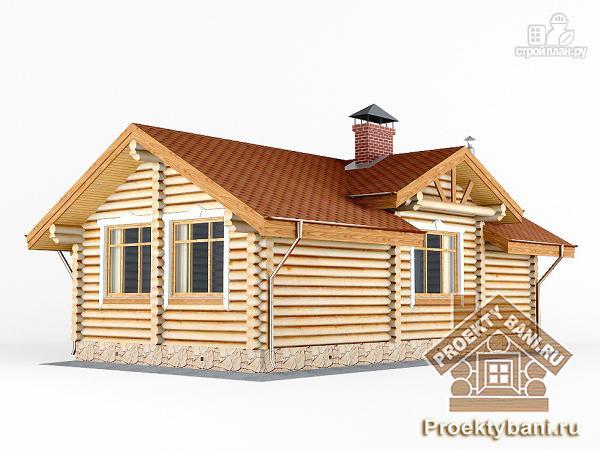 Фото 7: проект одноэтажный дом баня с бильярдной или двумя спальнями