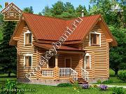 Фото: дом-баня с просторной террасой и парилкой