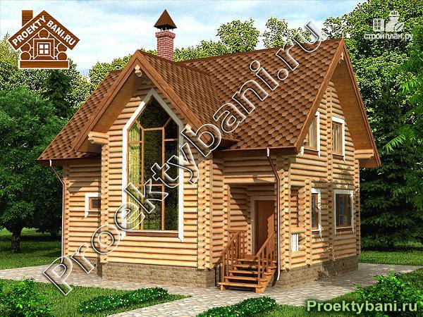 Фото: проект двухэтажный дом с баней
