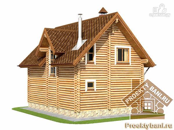 Фото 8: проект двухэтажный дом с баней