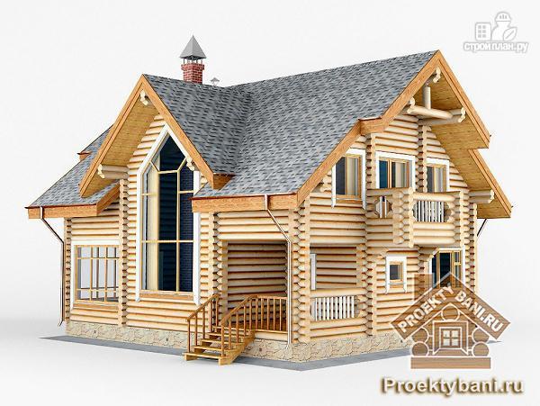 Фото 7: проект дом с двумя террасами (летней и зимней)