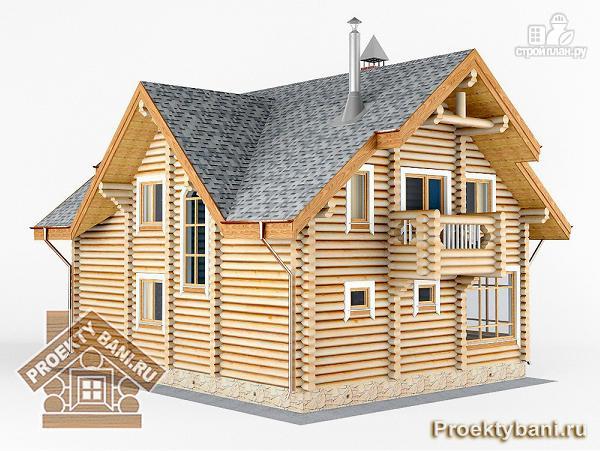 Фото 5: проект дом с двумя террасами (летней и зимней)