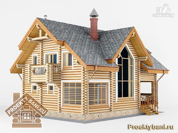 Фото 4: проект дом с двумя террасами (летней и зимней)