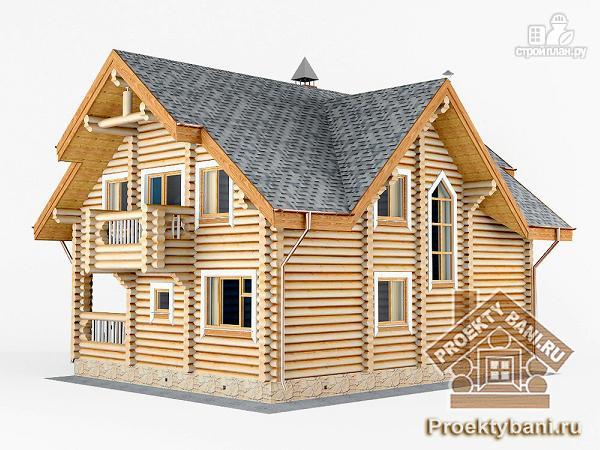 Фото 6: проект дом с двумя террасами (летней и зимней)