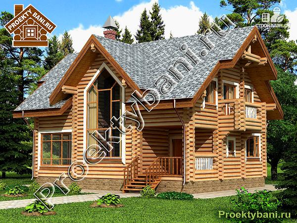 Фото: проект дом с двумя террасами (летней и зимней)
