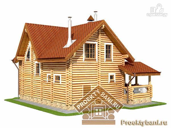 Фото 6: проект дом из оцилиндрованного бревна с тремя спальнями