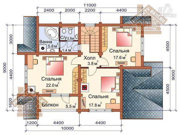 Фото 3: проект дом с тремя спальнями