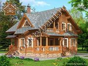 Проект дом из бревна с четырьмя спальнями