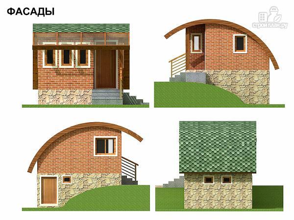 Фото 5: проект небольшой дачный домик на склоне