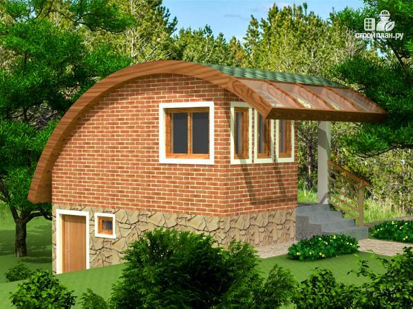 Фото 3: проект небольшой дачный домик на склоне