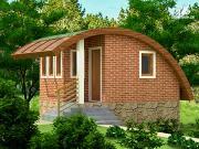 Фото: небольшой дачный домик на склоне
