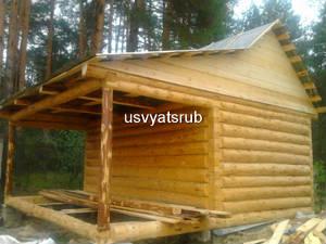 Баня 3х5+терраса 2х5 (крыша развернутая с козырьком)