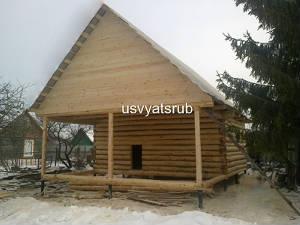 Дачный дом или баня 5х6+терраса 3х6+мансарда