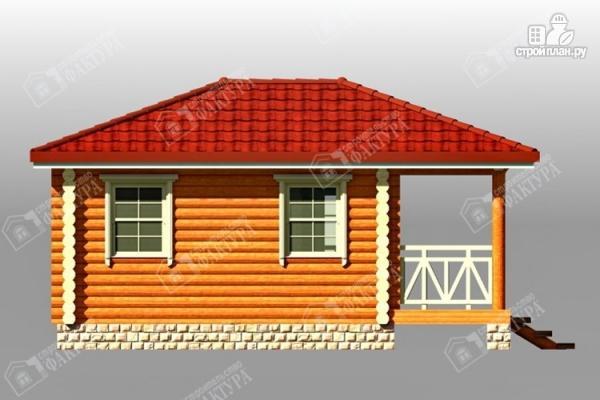 Фото 6: проект дом из бревна с верандой