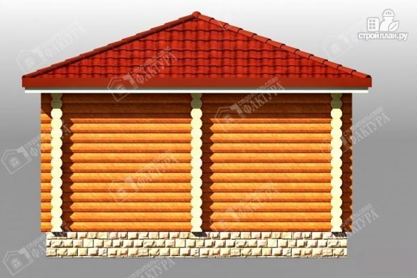 Фото 5: проект дом из бревна с верандой