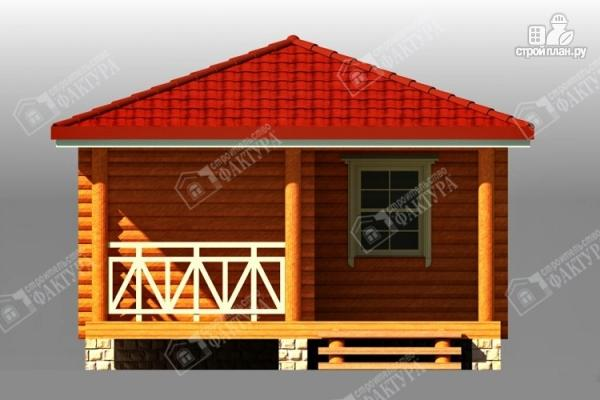 Фото 3: проект дом из бревна с верандой
