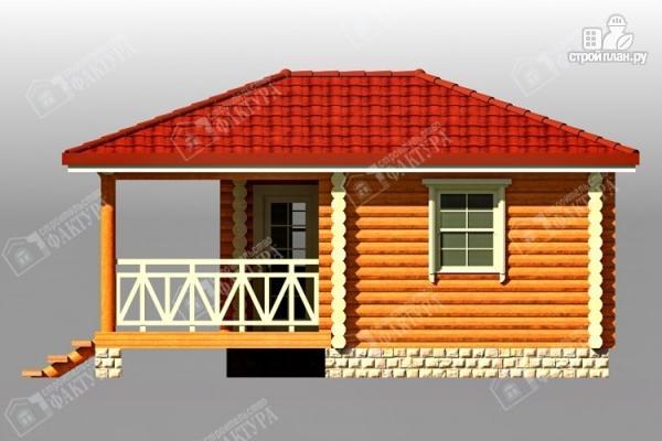 Фото 4: проект дом из бревна с верандой