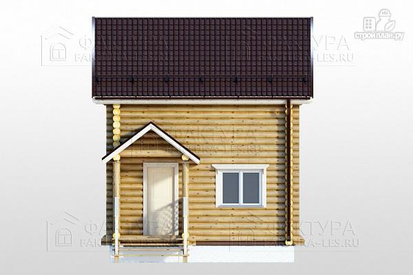 Фото 2: проект дом из бревна с крыльцом