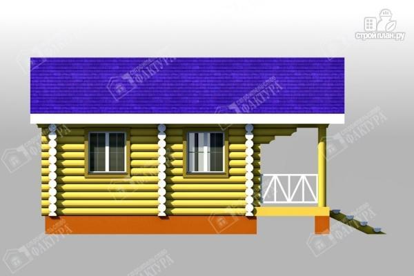 Фото 6: проект одноэтажный дом из бревна