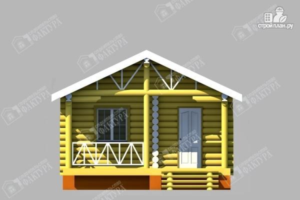 Фото 3: проект одноэтажный дом из бревна