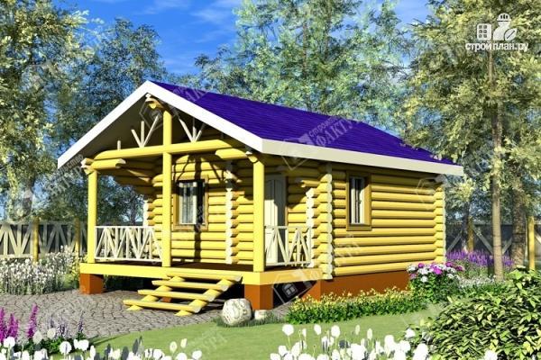 Фото: проект одноэтажный дом из бревна