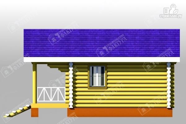 Фото 4: проект одноэтажный дом из бревна