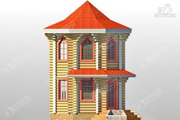 Фото 4: проект дом башня из бревна