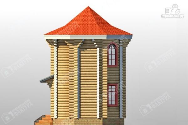 Фото 6: проект дом башня из бревна