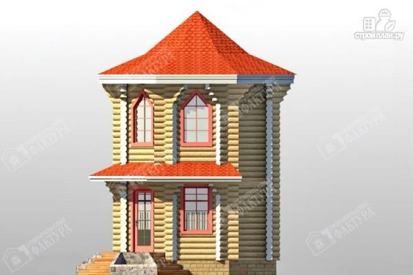 Фото 5: проект дом башня из бревна