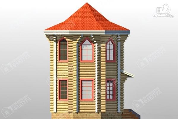 Фото 7: проект дом башня из бревна