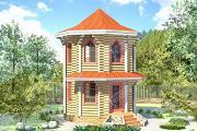 Фото: дом башня из бревна