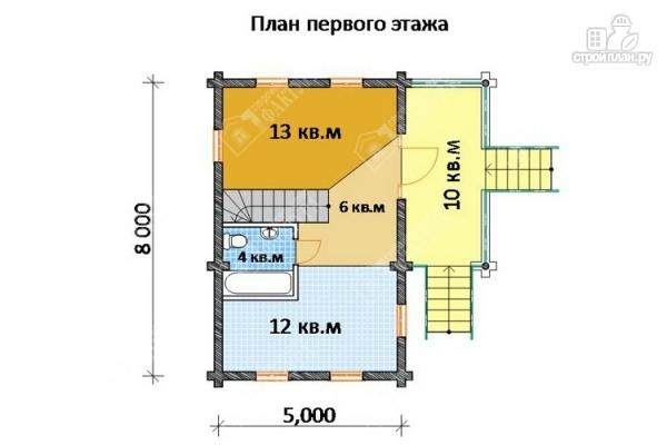 Фото 2: проект дом из бревна 220 мм