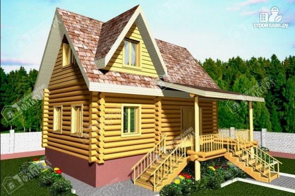Фото: проект дом из бревна 220 мм