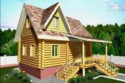 Проект дом из бревна 220 мм