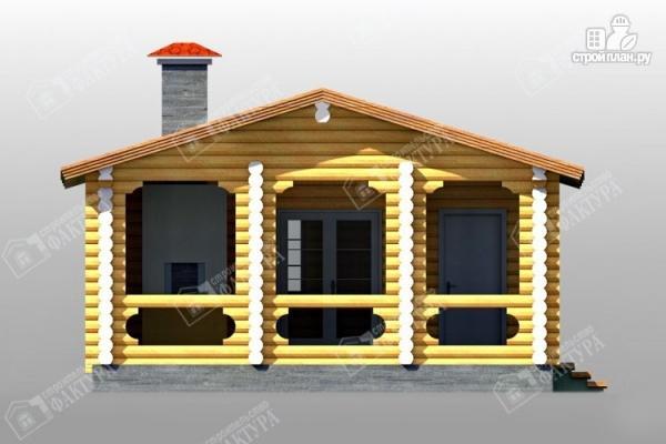 Фото 6: проект дом с просторной верандой