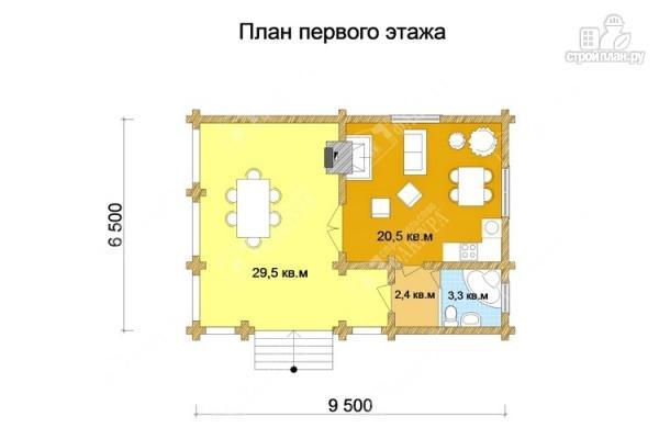 Фото 2: проект дом с просторной верандой