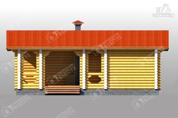 Фото 3: проект дом с просторной верандой