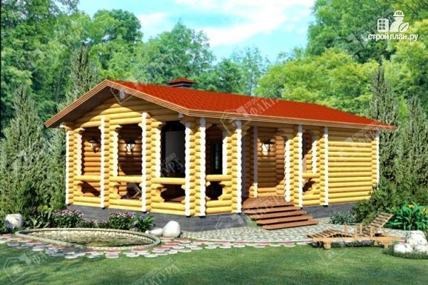 Фото: проект дом с просторной верандой