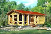 Проект дом с просторной верандой
