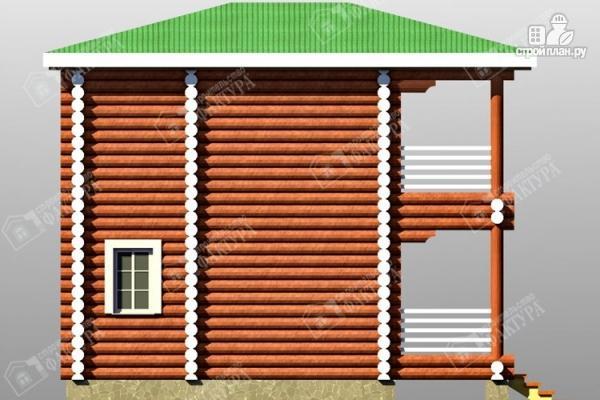 Фото 7: проект дом из оцилиндрованного бревна с балконом