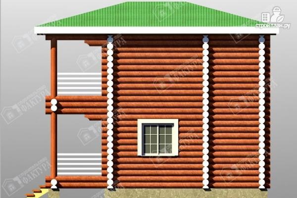 Фото 5: проект дом из оцилиндрованного бревна с балконом