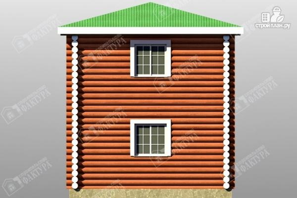 Фото 6: проект дом из оцилиндрованного бревна с балконом