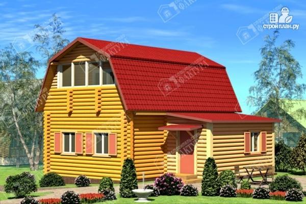 Фото: проект дом из бревна с сенями
