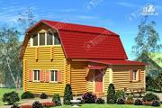 Проект дом из бревна с сенями