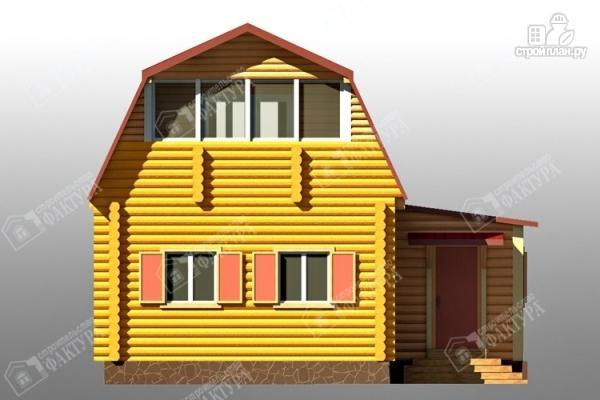 Фото 4: проект дом из бревна с сенями