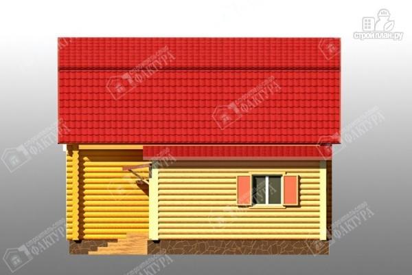 Фото 5: проект дом из бревна с сенями
