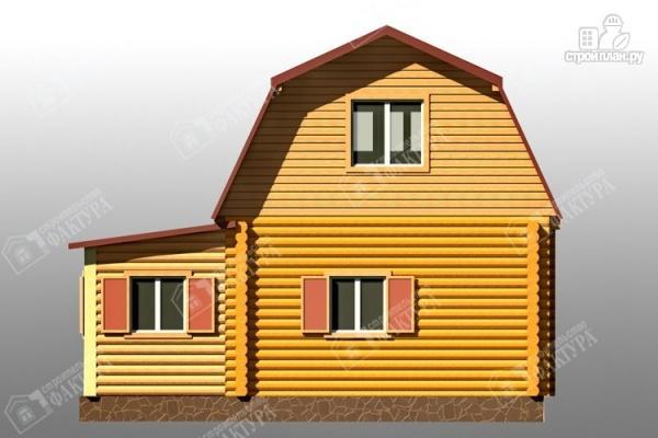 Фото 6: проект дом из бревна с сенями