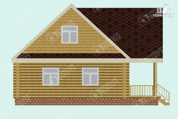 Фото 7: проект двухэтажный дом из оцилиндрованного бревна